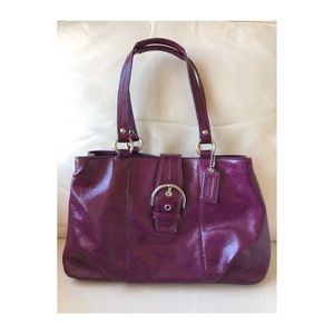 Like New Leather Coach Handbag